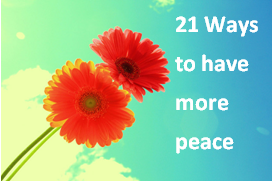 have more peace