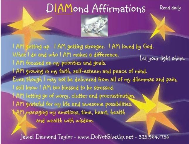 I AM Diamond Affirmation Card