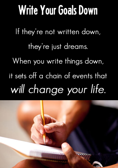 write down your goals 2