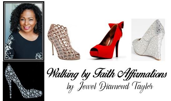 walking by faith affirmations logo