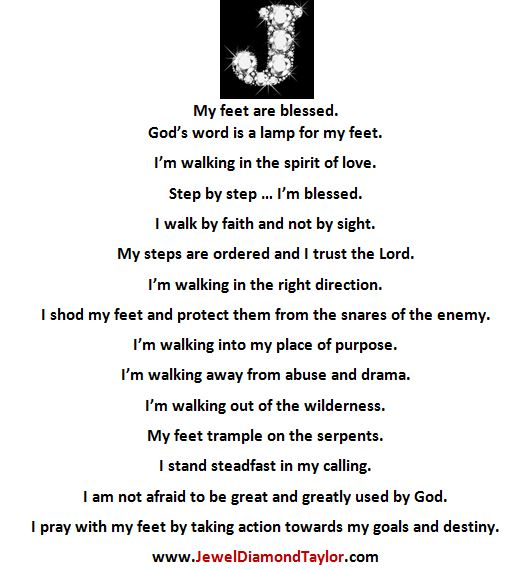 walking by faith affirmations words