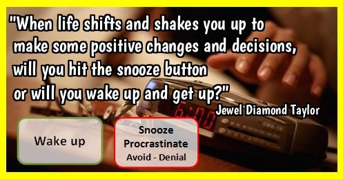 snooze button or wake up