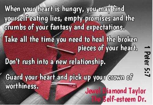 self esteem broken pieces guard your heart