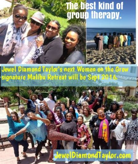 group collage Malibu retreat group therapy