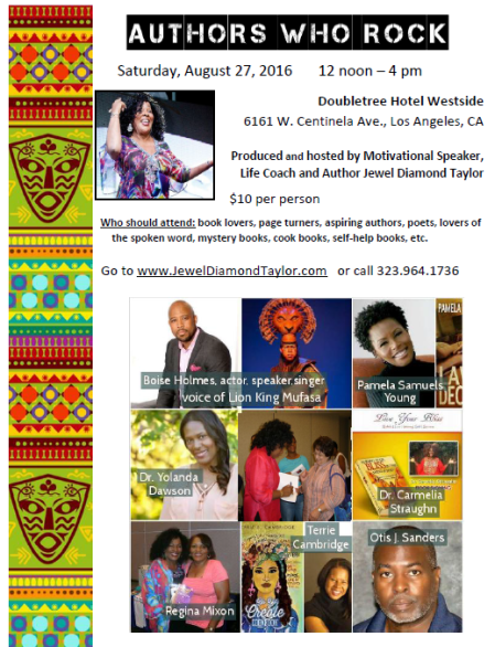 Authors Who Rock Collage flyer